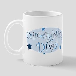 """Crimefighting Diva"" [blue] Mug"